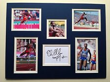 """Athletics Edwin Moses Signed 16"""" X 12"""" Double Mounted Display"""