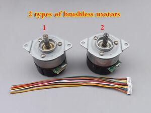 1pcs 12-24V Micro DC Brushless Servo Motor With AB dual channel 100 line encoder