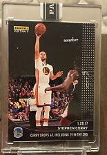 2016-17 Panini Instant Black Stephen Curry 43 Point Game ONE OF ONE 1/1 SSP RARE