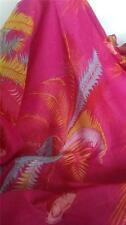 New 100% Cotton Scarf Wrap or Sarong Pink Versatile Dress Up or Beach Design