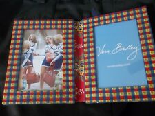 New Vera Bradley Double Sided Fabric Picture Frame Emily Blue & Red Floral Print