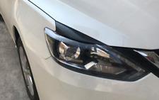 For Nissan Sentra 2016 -2019 Carbon Fiber Headlamps Light Brow Decorative Trim
