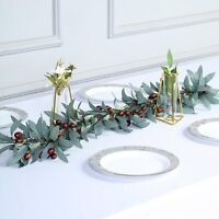 43-Inch long Green Brown Artificial Olives Leaves Vine Garland Decorations Sale