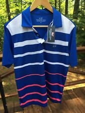 NWT Vineyard Vines Performance Men's S Sullivan Engineer Blue Polo Shirt $85