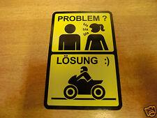 """""""Problem /Lösung""""   funny bike sticker ***german/deutsche***"""
