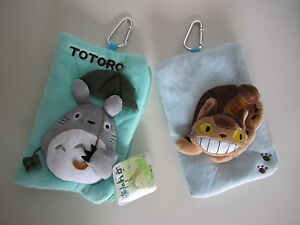 Totoro Cat Bus Plush Phone Bags Coin Purses ID Wallets Pouch Pencil Cases