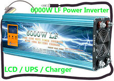 "6000W LF Split Phase 12V DC/110V,220V AC 60HZ Power Inverter 3.5""LCD/UPS/Charger"