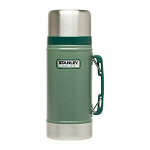 Stanley Classic Vacuum Food Jar 24oz. Hammertone Green Thermos Camping Cookware.