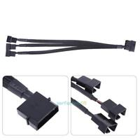 4Pin IDE Molex to 3-Port 3/4Pin Cooler Cooling Fan Splitter Power Adapter Cable
