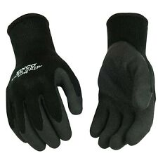 Kinco 1790 Warm Grip Thermal Durable Black Crinkle Latex Coated Palm Knit She