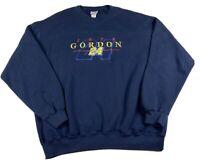 Vintage Jeff Gordon #24 NASCAR Embroidered Chase Authentics Sweatshirt Blue XL