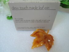 US AVON DEW TOUCH MAPLE LEAF PIN Brooch 1985 Collection