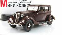 Scale car 1:43, GAZ-M1, Burgundy 1938