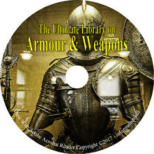 64 RARE Books on DVD, HUGE Library on Armour & Weapons, Armor Medieval Gun Sword