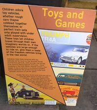 Shop Sign Advertising Matchbox & Airfix Toys & Games ~ Triumph ~ Camper Van etc