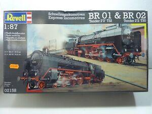 Revell BR01 & BR02 Express Locomotives 1/87 kit unbuilt with sealed contents