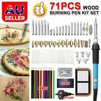 71pcs Electric Soldering Iron Kit Wood Burning Pen Tool Pyrography Craft Set HG