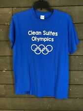 Gildan 1205 Sky Blue Clean Suite Olympics T-shirt Men's M