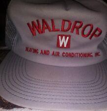 Waldrop Heating &Air Conditioning Inc. Vtg Usa Made Snapback Hat