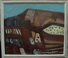 Ivan Jordell 1901-1961, erdfarbige Landschaftskomposition, um 1950