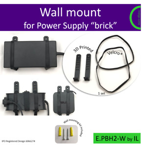 Universal wall mount for Power Supply unit brick. Holder. Made in the UK by us