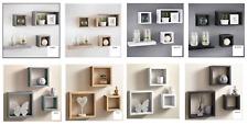 Set of 3 or 4 Floating Wall Shelves Storage Display Shelf