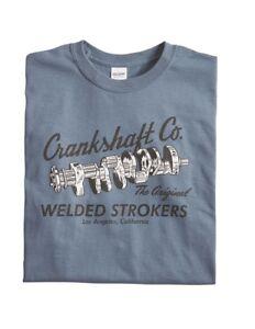 Men's Crankshaft Co. Vintage Style Racing T-Shirt Indigo Blue Cotton 0050B