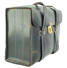 Vintage Military Issue USAF Pilot's Black Leather Briefcase Pilot Bag Type VIII