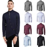 APRAW  Mens Luxury Long Sleeve Shirt Casual Slim Fit Stylish Dress Shirts Tops