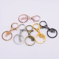 New Solid Brass Fishhook Key Hook Chain Ring Crafts Accessory Silver 45mm Japan