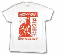 Motley Crue Whisky A Go Go White T Shirt Too Fast For Love 1982 Tour Reissue