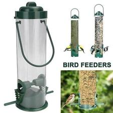 Durable Hanging Wild Bird Feeder Seed Container Hanger Garden Outdoor A2U1