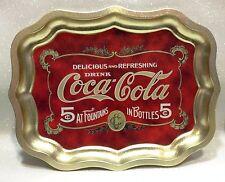 COCA COLA VASSOIO DORATO IN METALLO METAL GOLD TRAY COKE STILE VINTAGE ORIGINALE