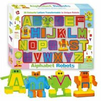 26PCS DIY Deformation Letters Alphabet Robot Transformers Educational Toy Gift