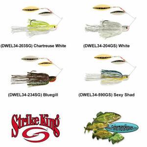 Strike King Spinnerbait Bottom Dweller 3/4oz Any 4 Colors DWEL34 Fishing Lure