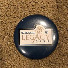 "New York Yankees Legacy Club SGA Collectible Pin Button MLB Baseball 2"""