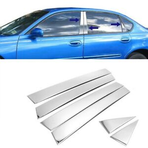 For 2000-2005 Chevy Impala 6PC Stainless Steel Chrome Pillar Post Trim Covers