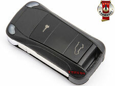 New PORSCHE CAYENNE GTS REMOTE KEY FOB 2 BUTTONS FLIP SHELL CASE REPLACEMENT
