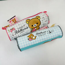 1x Cute Rilakkuma in Paris Round Pencil Case Pen Zip Bag Organizer School Supply