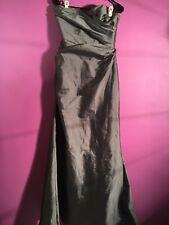 "Jim Hjelm Occasions - Silver Grey Mermaid Dress Size 12 Length 59"""