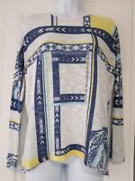 Womens River Island Long Sleeve Oversize Fine Knit Asymmetric Blue White Jumper6
