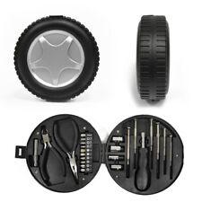 24 Piece Car Repair Tool Set Tire Shape General Household Hand Tool Kit (Black)