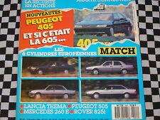 AUTO-HEBDO 1986 PEUGEOT 505 V6 / LANCIA THEMA V6 / MERCEDES 260E / MACAO