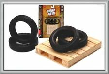 New Hobby Gear 1:24 Spare Tires & Pallet Great For Dioramas & G Scale Trains