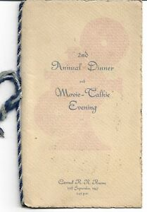 1947 CENTRAL NSWGR RRR RAILWAY REFRESHMENT ROOMS  2nd ANNUAL DINNER MENU