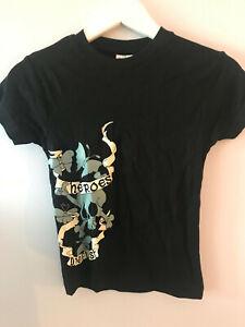 Heroe Die First -Skull & Butterfly Ladies T-Shirt, XS - New, tattoo. punk, emo