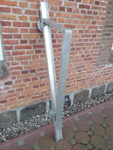Solarmodul Halterung für Flachdach, Aufständerung, Aluminium mit Fußplatte, NEU