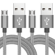 2-Pack 6FT Micro USB Cable Fast Charge Data Sync Charger Cord Samsung Android LG