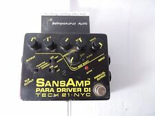 TECH 21 SANSAMP PARA DRIVER DI PREAMP EQ EQUALIZER BOOST EFFECTS PEDAL