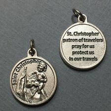 Saint St. Christopher Travelers Travel Protection Medal Charm Pendant 3/4 Inch